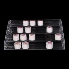 4 Tiers Nail Polish Display Rack Acrylic Nail Polish Bottles Holder Nail Salon Equipment Table Nail Rack(China)