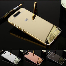 "5.2"" Mirror Capa For ZTE Blade V8 Case Luxury Metal Aluminum+Acrylic Hard Protective Back Cover Accessory For ZTE V 8 Coque 32GB"