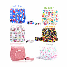 CAIUL Women Messenger Bag Camera Case Bag for Fujifilm Instax Mini 8 Mini8+ Mini 9 PU Leather Camera Protect Case Shell