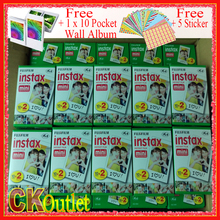 Original 200 Sheets Fujifilm Instax Mini 8 9 Film VALID UNTIL 2019-4 + Free Wall Album Sticker for Polaroid Camera 7S 70 90