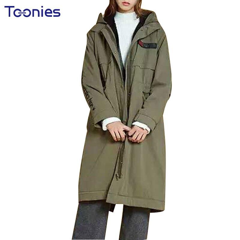 2017 New Winter Warm Hooded Long Womens Coats Thick Cotton Jacket Women Embroidery Letter Vintage Overcoat Parkas Abrigos MujerÎäåæäà è àêñåññóàðû<br><br>