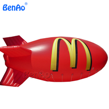 AO082 Factory Price Helium airship,inflatable blimp outdoor,toy zeppelin/ pvc airship/helium airplane/zeppelin/blimp for sell(China)