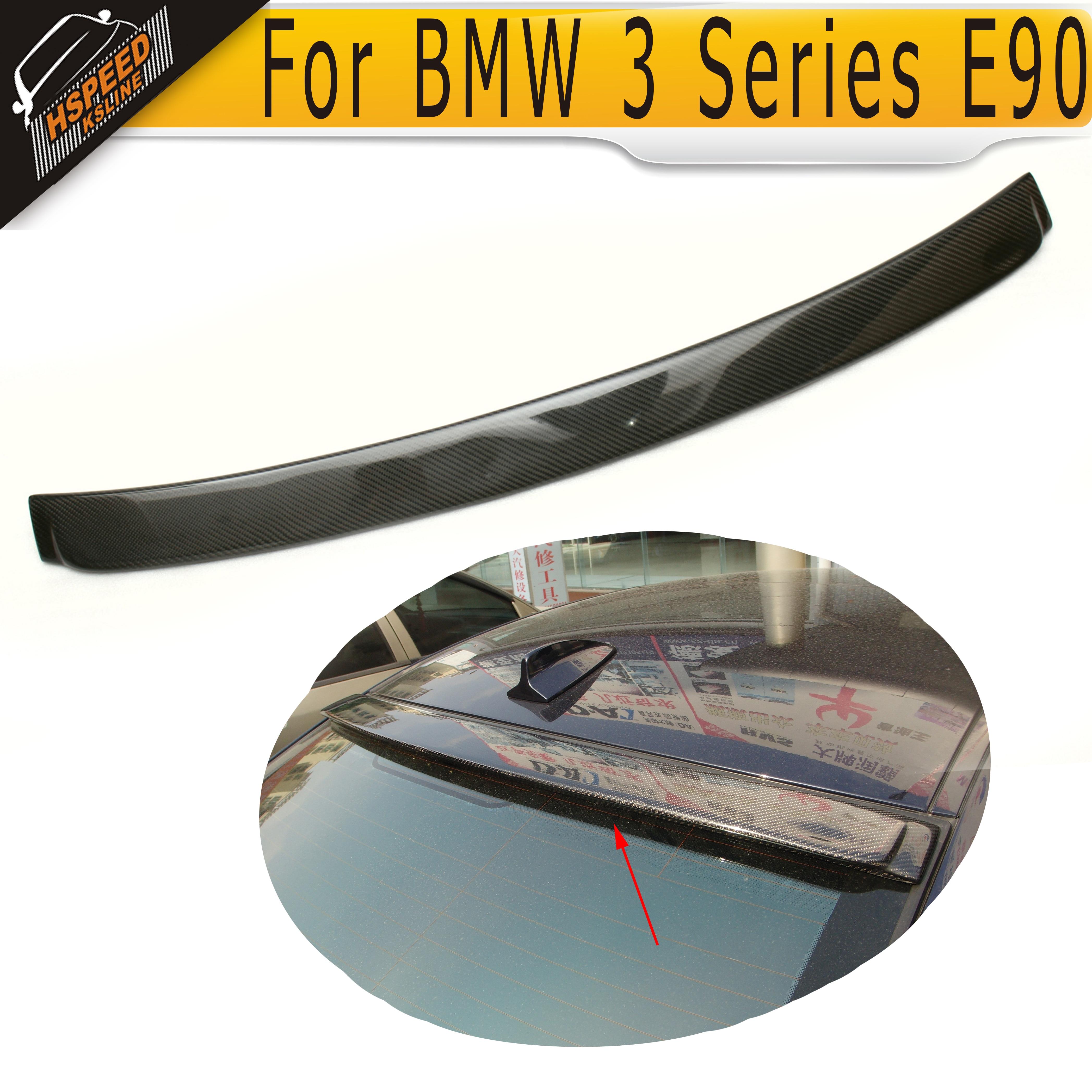 E90 Carbon Fiber car roof lip spoiler for BMW 3 Series E90 2005 2006 2007 2008 AC style<br><br>Aliexpress