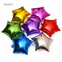 10pcs/Set 18 Inch Five-Point Star Foil Balloon Foil Balloons Helium Wedding I Love You Globos Party Decor Party Mylar Balloons(China)