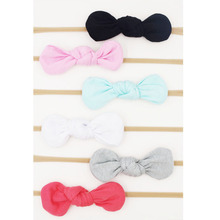Baby Girls Nylon Headband Bow Head Band Hair Accessories Elastic Rabbit Ears Knot Hairband for Infant Kids Toddler 6Pcs/Lot