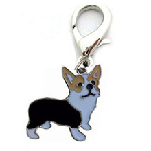 15 Types Mini pet cat dog pendant tags alloy doggy puppy collar hanging decor pet ID identity jewelry supply key chain accessory