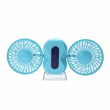 Portable 2 Motor Cuple USB Fan handheld mini Rechargeable 1200mAh Lithium Battery climatiseurn multifunction ventilator