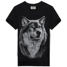 Brand Clothing Wolf Casual 3D Printed T Shirt Men Tshirt Cotton T-shirt Camisetas hombre Dark Souls Punisher O-neck Tshirts A2(China)