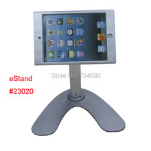 for mini iPad desktop stand with lock table security display POS kiosk holder for shop hotel retail sotre 360 rotation