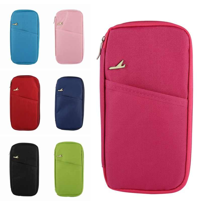 Korean Style Passport Wallet Travelus Polyester Multifunction Credit Card Package ID Holder Travel Storage Bag New