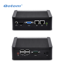 QOTOM Dual NIC Mini PC Q100S/ Q210S with 500G/ 1TB HDD, 4 USB, COM, 2 display port, Tiny desktop Computer Win XP/7/8/10, Linux