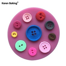 Beautiful Button Shape 3D Fondant Cake Lace Mold Tools For Cooking  -C422