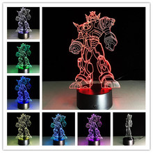 Transformers hero 3D light LED Night Light USB touch LED Decorative LED Table Lamp Colorful Desk Lighting sleeping light 7colors