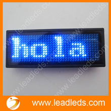 Blue 11x33 pixels scrolling led message badge name tag card(China)
