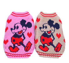 Small Dog Cat Sweater KNIT Hoodie Mickey Jumper Pet Puppy Coat Jacket Warm Jumper Clothes(China)