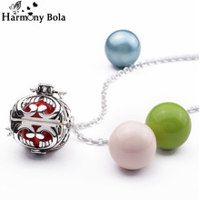 Fashion Copper Harmony Bola Ball Pendant Necklace For Pregnant Women Angel Caller Mexican Balls 20mm Pregnancy Gift K01Y20A