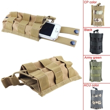 Military Tactical Single Pistol Magazine Pouch Flashlight Sheath Airsoft Hunting Open Top Cartridge Clip Pocket Ammo Molle Pouch(China)