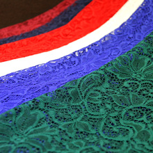 Free Shipping Delicate Lace Thicken Fabric Cloth Elastic Hollow Out Flowers DIY Cake Skirt Fabric Cloth RS597(China)