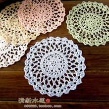 2015 new arrival fashion cotton crochet lace doilies for home decor lace felt as innovative item for dinning table decor cup pad