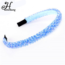 haimeikang Beaded Wedding fashion Hair bands Fascinators Crystal Headbands Hairbands Female Accessoire Cheveux Brand(China)