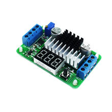 Free shipping LTC1871 DC-DC Boost Converter Adjustable Step-Up High Power Supply Module LED Voltage Meter/Button Switch