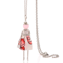 Buy vintage women necklace lovely stylish french cloth long chain pendants doll necklace big choker women jewelry christmas gifts for $2.91 in AliExpress store