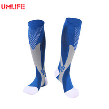 Long Football Socks 5 Color High Quality Nylon Soccer Socks Knee Length Compression Socks For Men(China)