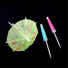 20pcs/lot Mini Umbrella Tropical Parasol Umbrella Cake Decorating Snack Cocktail Wedding Birthday Party Drinks Picks Decoration(China)