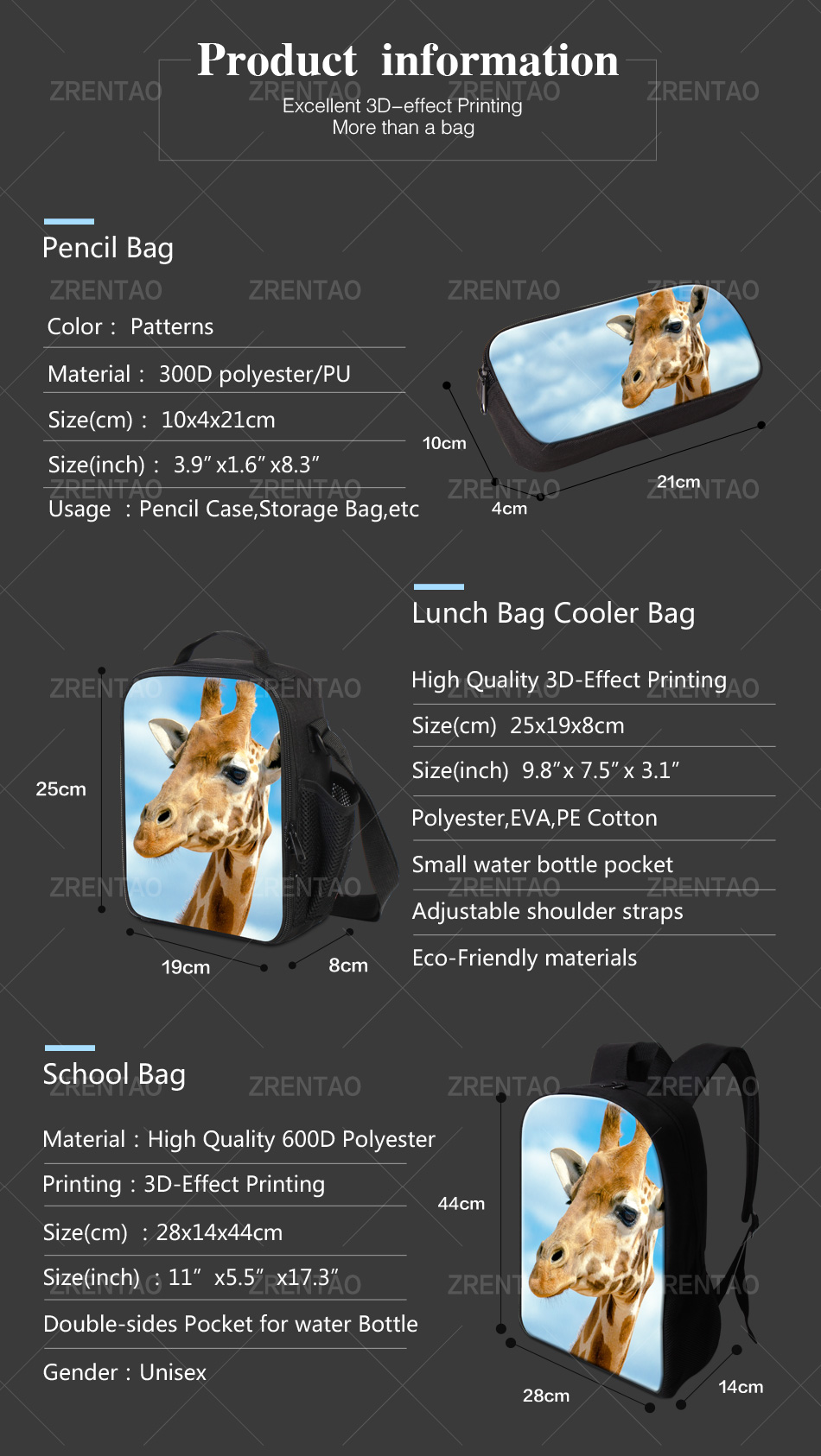 school rucksack sets