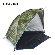TOMSHOO Beach Tent Camouflage Camping Tent for 2 Person Single Layer polyester fabric Tents Sports Sunshade Tent for Fishing