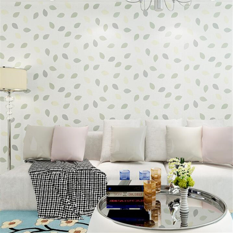 Beibehang Trees Leaves Wallpaper Bedroom Living Room papel de parede Green Wallpaper Modern Fresh Greenery Wallpaper roll<br>