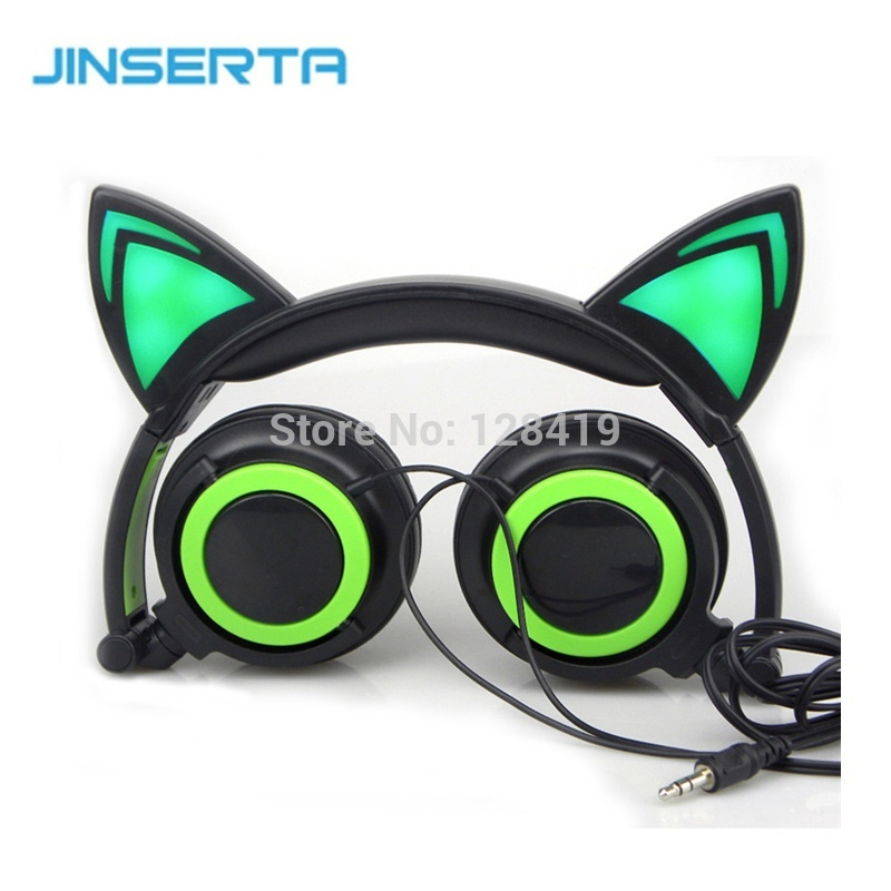 Cat Ears Headphones with LED Lights Gaming Music Headset Foldable Flashing Glowing Parade Earphone For PC Phone MP3<br><br>Aliexpress