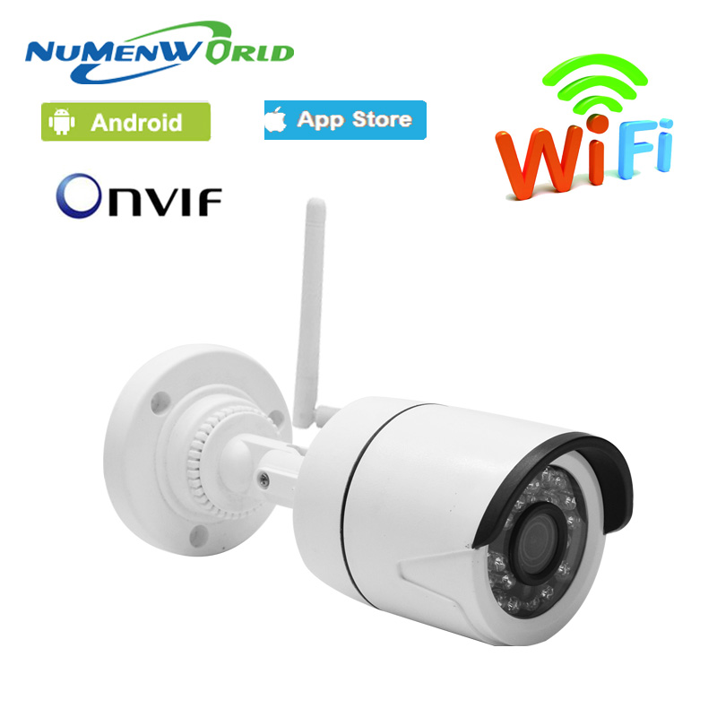 Mini Wifi IP cam 720/960/1080P HD P2P ONVIF 802.11b/g/n wifi network Wired IP Camera IR Outdoor Waterproof Camera IP ABS Plastic(China)