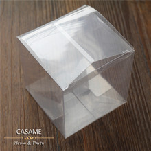 100pcs/lot   Wedding Party Favors Boxes Clear PVC Wedding  Favor Boxes Chocolate  Candy boxes clear box quadrangle square