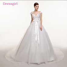 Buy Plus Size Vestido De Noiva 2018 Wedding Dresses Ball Gown Cap Sleeves Tulle Lace Flowers Boho Cheap Wedding Gown Bridal Dresses for $117.39 in AliExpress store