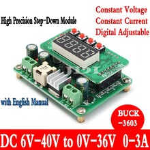 DC DC Step Down module 6-40V to 0-36V Digital display Adjustable LED 12V 24V Buck Module Solar Charging Power(China)