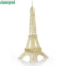 CHAMSGEND Modern Eiffel Tower 3d jigsaw puzzle toys wooden adult children's intelligence toys hot Mar29