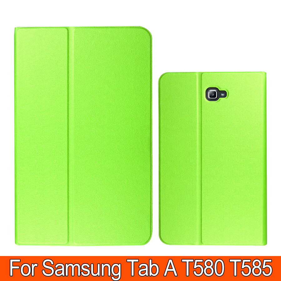 Fashion Flip Pu Leather Case For Samsung Galaxy Tab A 10.1 T580N T585N Smart Tablet Housing PC TPU Back Cover Skin Shell(China)
