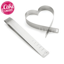 Stainless Steel Cake Pastry Mold Heart Shaped Extendable Bakery Products Bakeware Moulds Baking Confectionery Tools