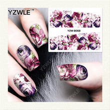 YZWLE 1 Sheet DIY Decals Nails Art Water Transfer Printing Stickers Accessories For Manicure Salon YZW-8068(China)
