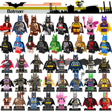 DC Classic Super Heroes Batman Batgirl Bat Woman Bathrope Joker Rainbow Building Block Figures Toys Children Gift