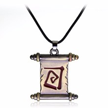 Hot Game Dota 2 Transfer Roll Necklace High Quality Alloy Dota 2 Hearthstone Leather Rope Charms Pendants & Necklaces Jewelry