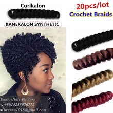 Crochet Braids on Natural Hair CURLKALON BRANDS ombre braiding hair extension 27 30 color small twist kinky curly hair bundles