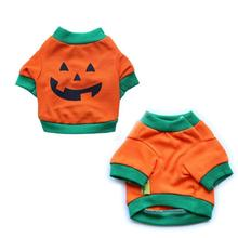 New Lovely Halloween Pumpkin Pet Dog Puppy Cat Vest T Shirts Coat Spring Autumn Summer Cute Cotton Sweatshirt Clothes Outfit