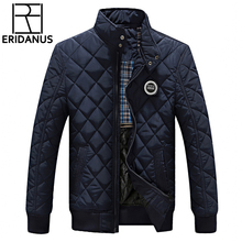 Winter Jacket Men 2016 New Autumn Men's Casual Cotton Quilted Jackets Korean Slim Fit Fashion Stand Collar Solid Warm Coats M414