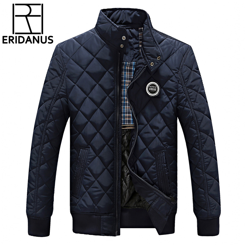 Winter Jacket Men 2017 New Autumn Men's Casual Cotton Quilted Jackets Korean Slim Fit Fashion Stand Collar Solid Warm Coats M414