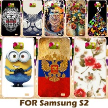 DIY Painting design Hard Plastic Case For Samsung I9100 Galaxy S II I9100G i9108 i9100p SII S2 GT-I9100 4.3 inch Phone Bag Cover