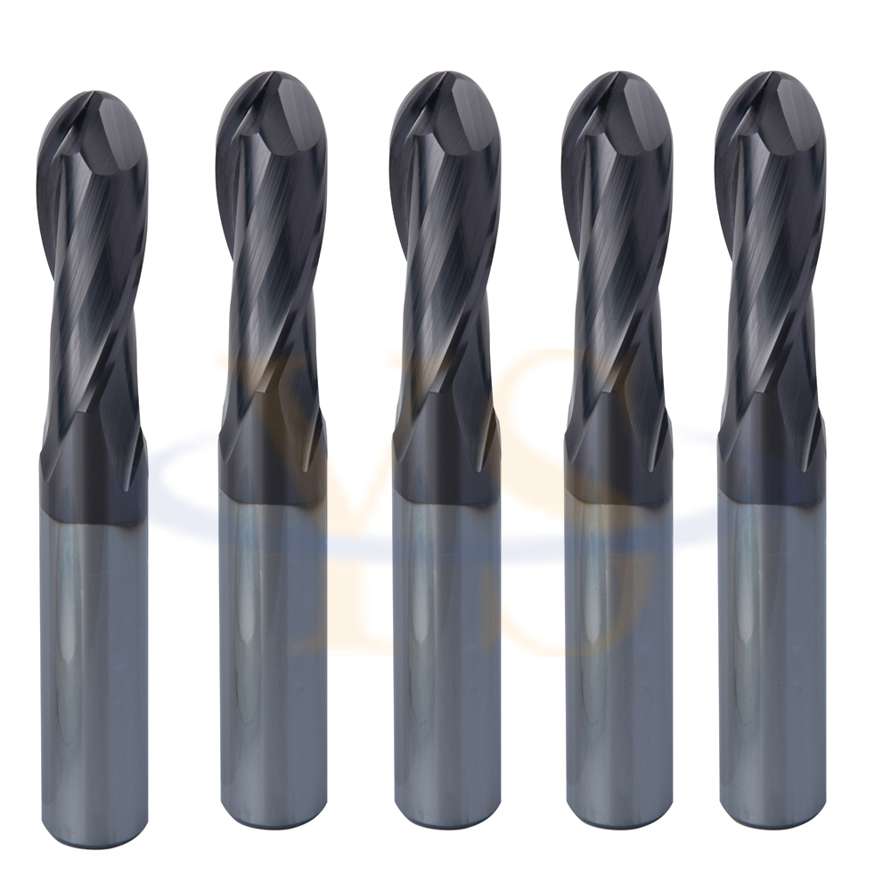 5pcs-2Flute-1-4-x-3-8x-2-1-2-Ball-Nose-End-Mill-TiALN-Coated-Steel-USA  5pcs <br>