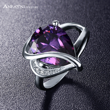 ANFASNI Personalized Costume Jewelry Rings Designer Brand Zircon Ring Luxury Crystal Ring CRI0054-B