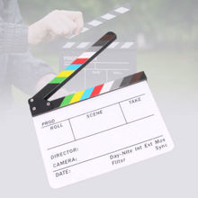 "Film Board Acrylic Clapboard Dry Erase Director Film Movie Clapper Board Slate 30 x 25cm , 12"" x 9.8""(China)"